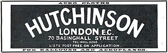 Hutchinson Aeroplane Aerocloths  - 70 Basinghall Street London EC