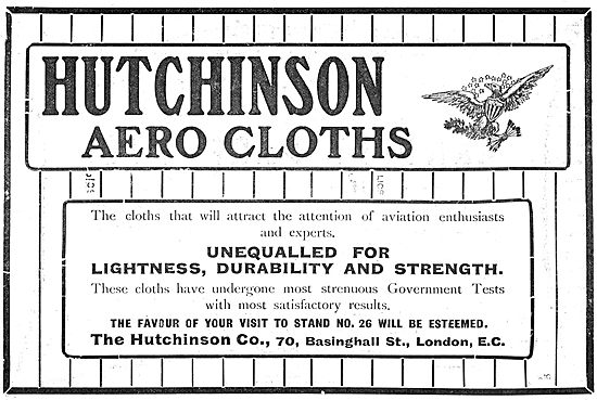 Hutchinson Aerocloths For Aeroplane Builders