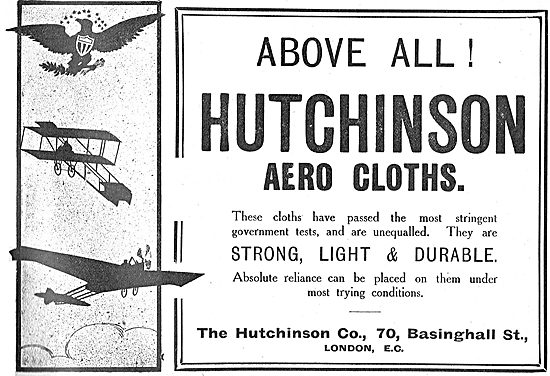 Above All! Hutchinson Aero Cloths. Strong, Light & Durable