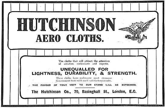 Hutchinson Aerocloths Unequalled For Lightness & Durability