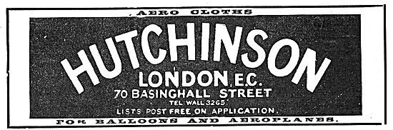 Hutchinson Aerocloths 70 Basinghall Street London EC