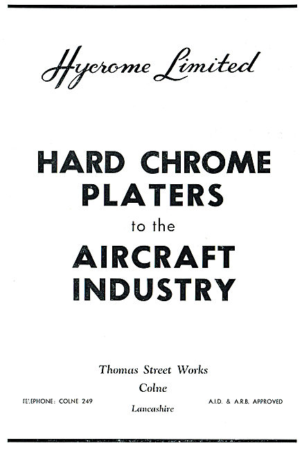 Hycrome - Hard Chrome Platers To The Aircraft Industry