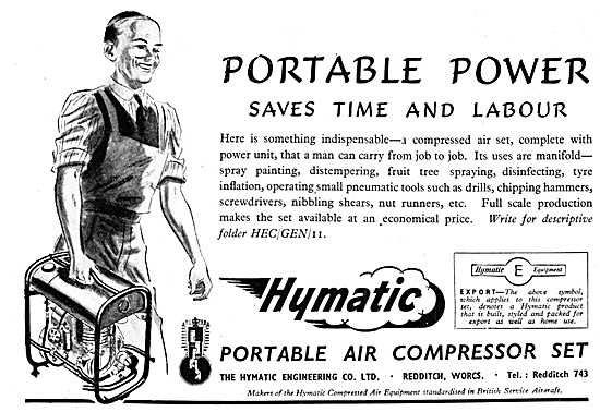 Hymatic Portable Air Compressors