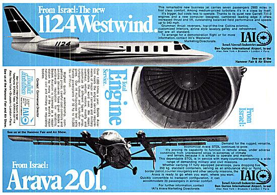 Israel Aircraft Industries. IAI 1124 Westwind  Arava 201