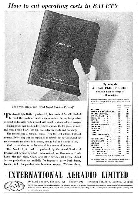 International Aeradio: Aerad Flight Guide 1950