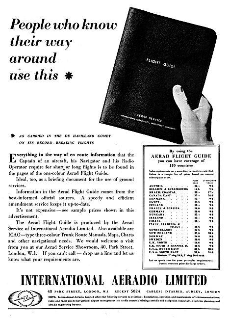 International Aeradio:  IAL Aerad Flight Guide 1950