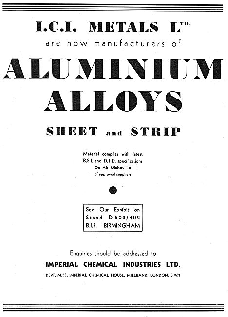 ICI Metals - Aluminium Alloys