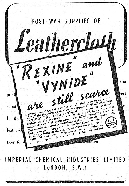 ICI Leathercloth REXINE VYNIDE