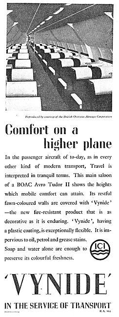 ICI Vynide For  BOAC Avro Tudor II Passenger Cabin Walls