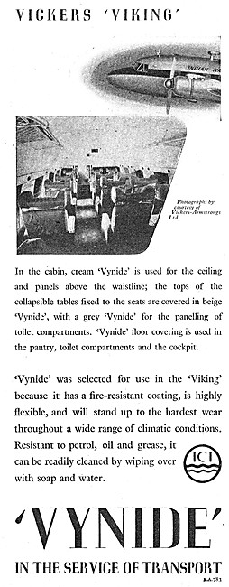 ICI Vynide For Cabin Panelling & Upholstery