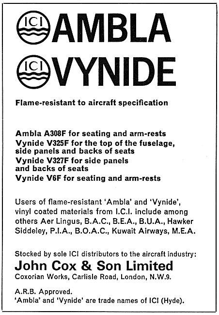 John Cox ICI Ambla Vynide Vinyl Materials
