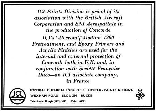 ICI Paints Division. ICI ALOCROM / ICI ALODINE