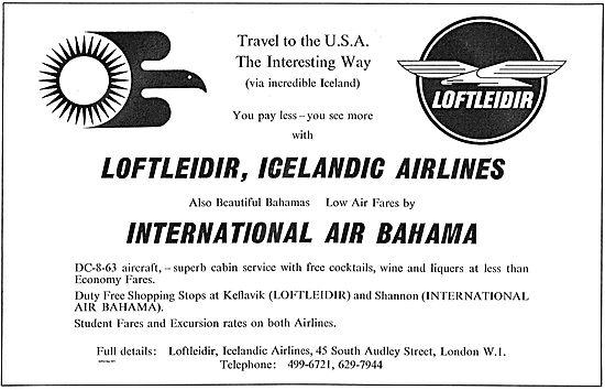 Loftleidir Icelandic Airlines - Travel To the USA.