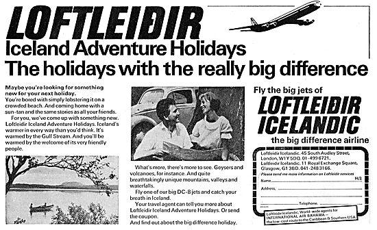 Loftleidir Icelandic Airlines - Adventure Holidays