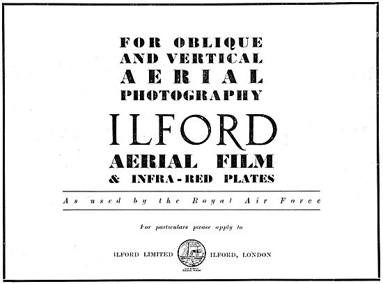 Ilford Air Camera Film & Infra Red Plates 1932