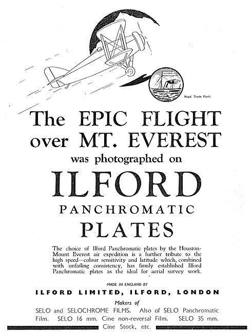Hoiuston Everest Expedition Used Ilford Panchromatic Plates