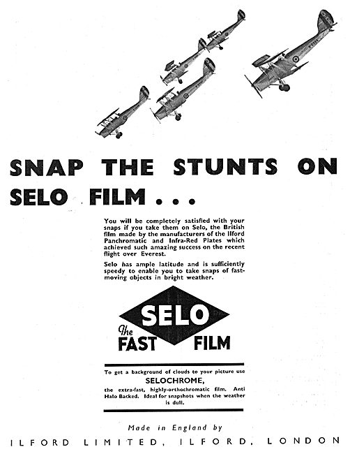 Snap The Stunts On Ilford Selo Film