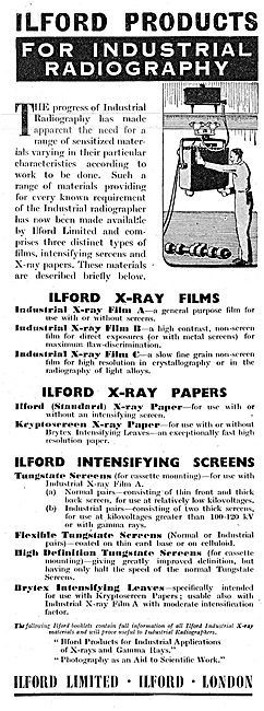 Ilford Products For Industrial Radiography