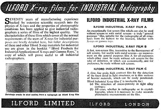 Ilford X-Ray Film For Industrial Radiography
