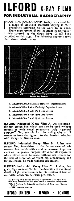 Ilford Industrial Radiography X-Ray Films