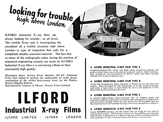 Ilford Industrial X-Ray Films 1952