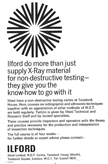 Ilford X-Ray Materials For NDT