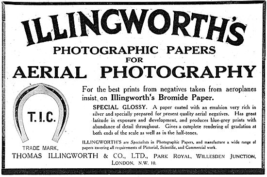 Thomas Illingworth. Photographic Paper For Aerial Photography