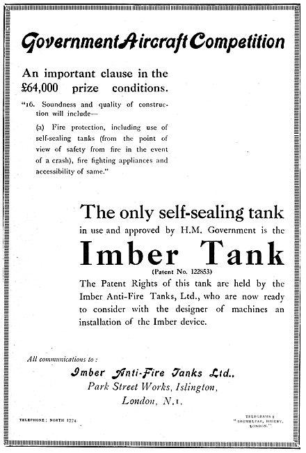 Imber Anti-Fire Tanks Ltd. Imber Self Sealing Fuel Tanks