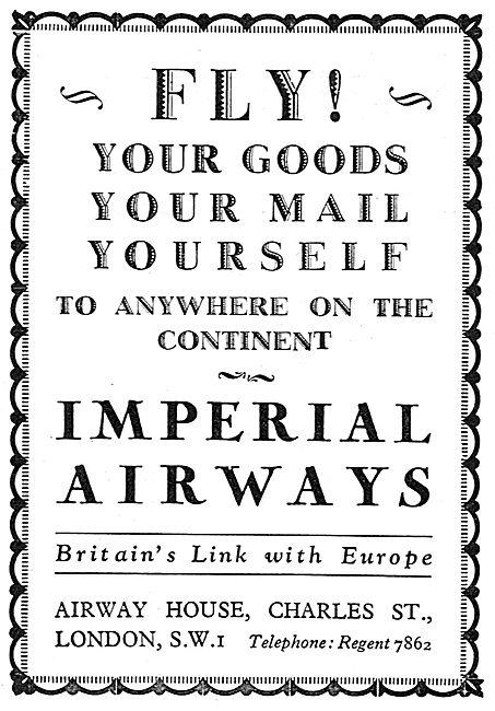 Imperial Airways 1929 Advert