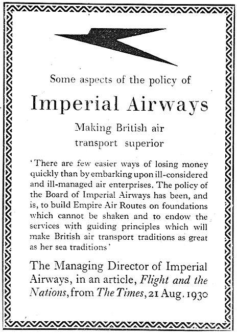Imperial Airways - Making British Air Transport Superior
