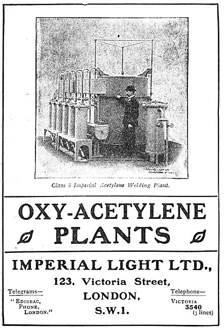 Imperial Light Oxy-Acetylene Plants 1918