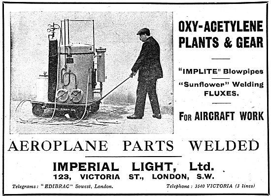 Imperial Light - Oxy-Acetylene Plants & Gear For Aeroplane Work