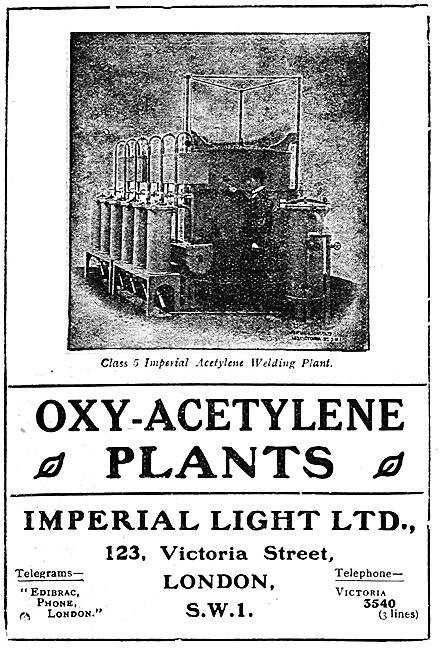 Imperial Light - Oxy-Acetylene Plants - 1919