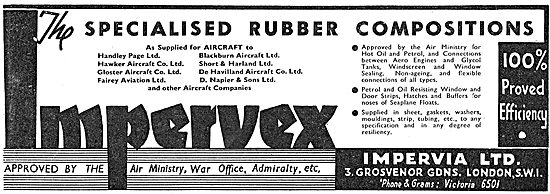Impervian  Imprevex Rubber Compositions For Aircraft Parts