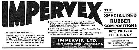 Impervia  Imprevex Rubber Compositions For Aircraft Parts