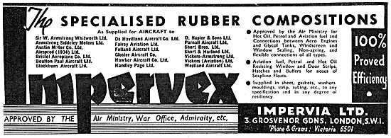 Impervia: Impervex Rubber Compositions For Aircraft Parts