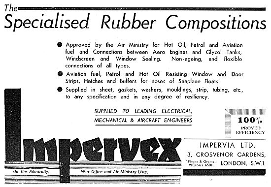 Impervia Impervex Rubber Components For Aircraft