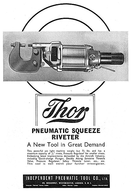 Independent Pneumatic Tool Co: Thor Pneumatic Squeeze Riveter