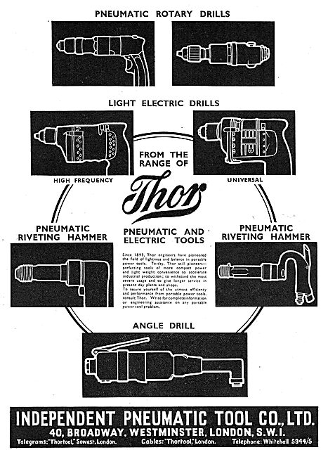 Independent Pneumatic Tool Co : Thor Pneumatic Drills & Riveters