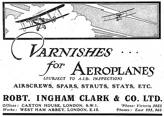 Ingham Clark AID Approved Varnishes For Aeroplanes