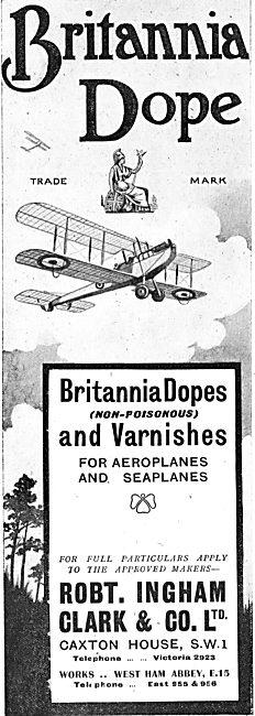 Ingham Clark - Britannia Dope For Aeroplane Fabrics