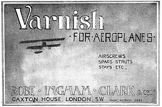 Robert Ingham Clark  Varnishes For Aeroplanes