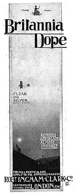 Ingham Clark Britannia Aeroplane Dope - 1917 Advert
