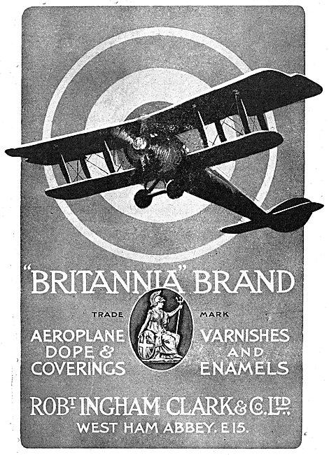 Ingham Clark.Britannia Brand Dope For Aeroplanes