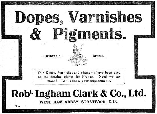 Ingham Clark Britannia Brand Dopes, Varnishes & Pigments