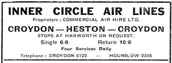 Inner Circle Air Lines : Croydon - Heston