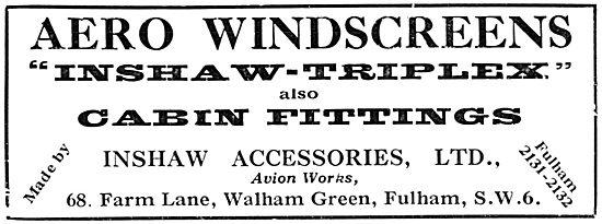 Inshaw Aero Windscreens & Cabin Fittings - Inshaw-Triplex