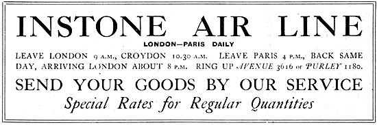 Instone Air Line Croydon Aerodrome 1921
