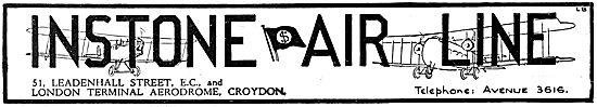 Instone Air Line Croydon Aerodrome 1922