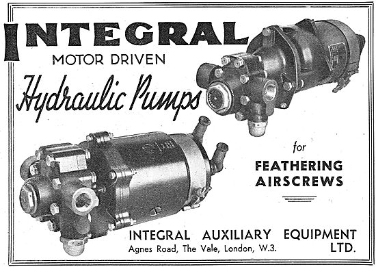 Integral Hydraulic Pumps For Faethering Airscrews
